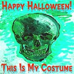 Skull Costume Icy Blue