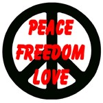 Peace Freedom Love