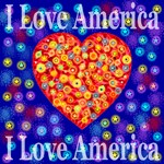 I Love America Glorious StarBurst Heart
