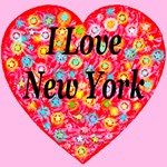 I Love New York Red StarBurst Heart