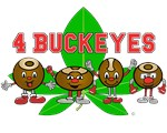 4 Buckeyes O H I O Products w/ Buckeye Leaf