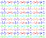 Bicycles colorful pattern