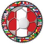 Peru Flag World Cup Soccer Football Futbol with Wo