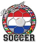 Paraguay Flag World Cup Soccer Ball with World Fla