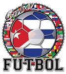Cuba Flag World Cup Futbol  Ball with World Flags