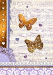 Purple & Gold butterflies