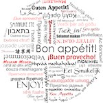 Bon appetit in different languages - Red