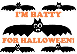 I'M BATTY FOR HALLOWEEN