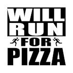 Run for Pizza (Black)