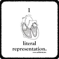 I heart literal representation