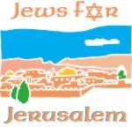 Israel Jews For Jerusalem Black T-Shirt