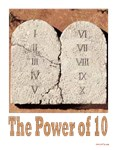 Jewish Power of 10 New Years Card