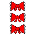 Red Anime Bows