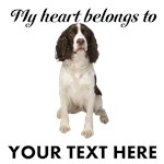 Personalized Springer Spaniel T-Shirts