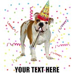 Personalized Bulldog Birthday