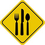 Food Crossing Sign