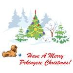 Pekingese Christmas