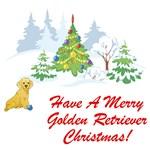 Have A Merry Golden Retriever Christmas T-Shirt