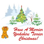 Yorkie T-Shirt - Christmas
