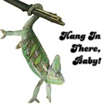 Hang In There Baby Iguana T-Shirts