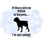 Black Pug T-Shirt - Heaven