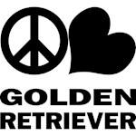 Peace Love Golden Retriever