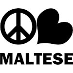 Peace Love Maltese T-Shirts