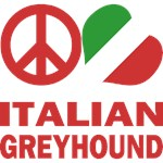 Peace Love Italian Greyhound