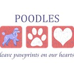Miniature Poodle Paw Prints T-Shirt
