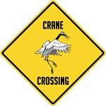 Crane Crossing Sign