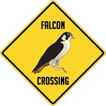 Falcon Crossing Sign