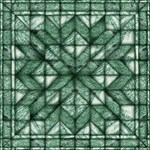green marble quilt
