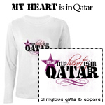My Heart Is In Qatar T-Shirts and Gifts