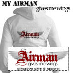 My Airman Gives me Wings T-shirts and Gifts