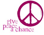 Give Peace a Chance - Pink