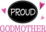 Proud Godmother Butterfly T-shirts and Gifts