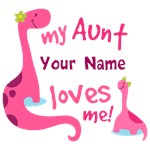 Personalized Aunt Loves Me T-shirts