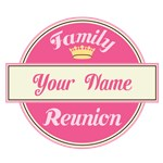 Personalized Family Reunion Tee Shirts (pink)