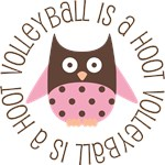 Volleyball Owl Sports Gifts and Shirts