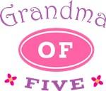 Grandma Of Five T-shirt Gifts