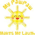 My PawPaw Makes Me Laugh Kids Apparel