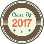 Vintage Class of 2017 School T-shirts