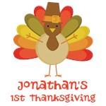 Personalized 1st Thanksgiving Turkey T-shirts