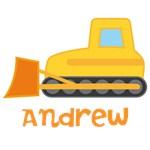 Personalized Bulldozer Construction Kids T-shirts