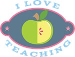 I Love Teaching apple quote T-shirts
