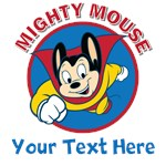 Personalized Mighty Mouse Cartoon T Shirts