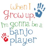 Future Banjo Player Kids Music Tees