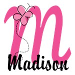 Custom Pink Butterfly Monogram T-shirts and Gifts