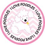 I Love Poodles pet owner tees