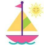 Personalized Sailboat Girls Sailing